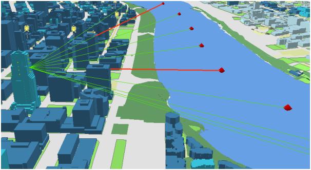 3D GIS データを使うことで、地理情報を立体的に表現することが可能になり、分布や現象の可視化による地図の視覚的な効果が期待できます。ただし、3D GIS データは 2D