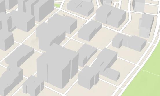 建物形状を表したマルチパッチのポリゴン フィーチャ