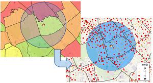 小商圏対応の高精度分析!基本単位区を標準搭載