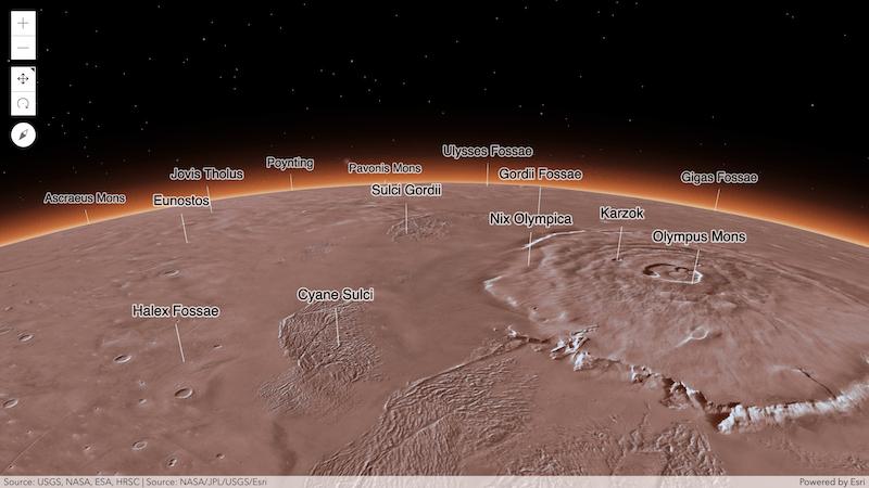 火星と月の表示をサポート